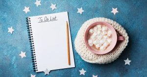To Do List and hot chocolate